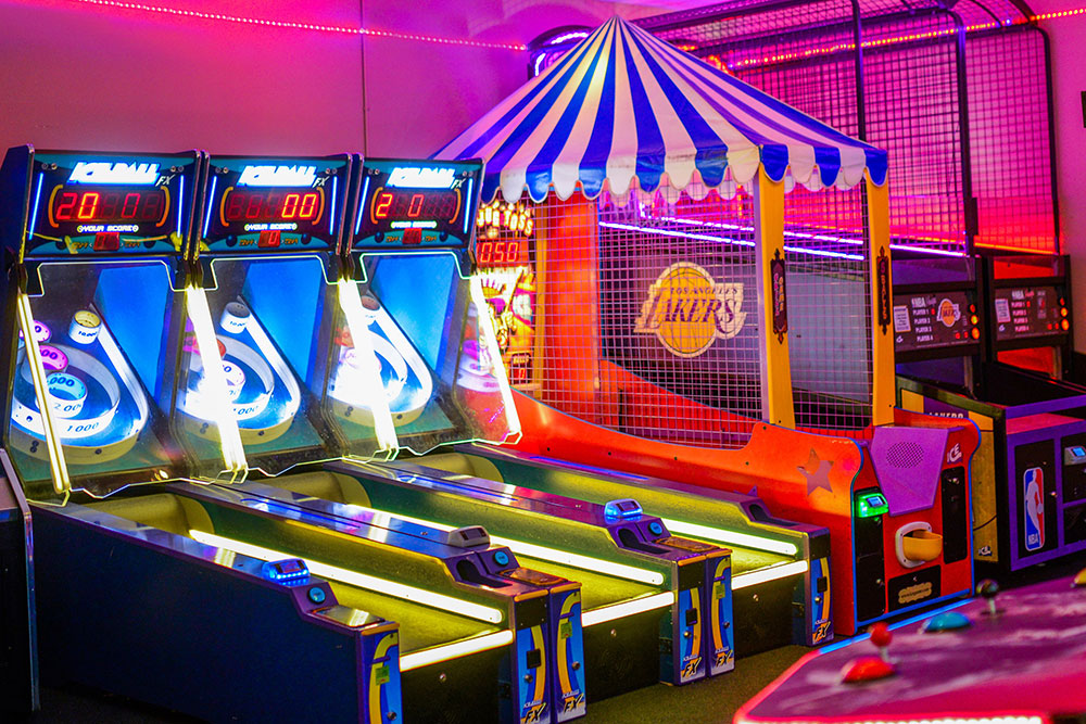 Iceball and Basketball Arcade Games