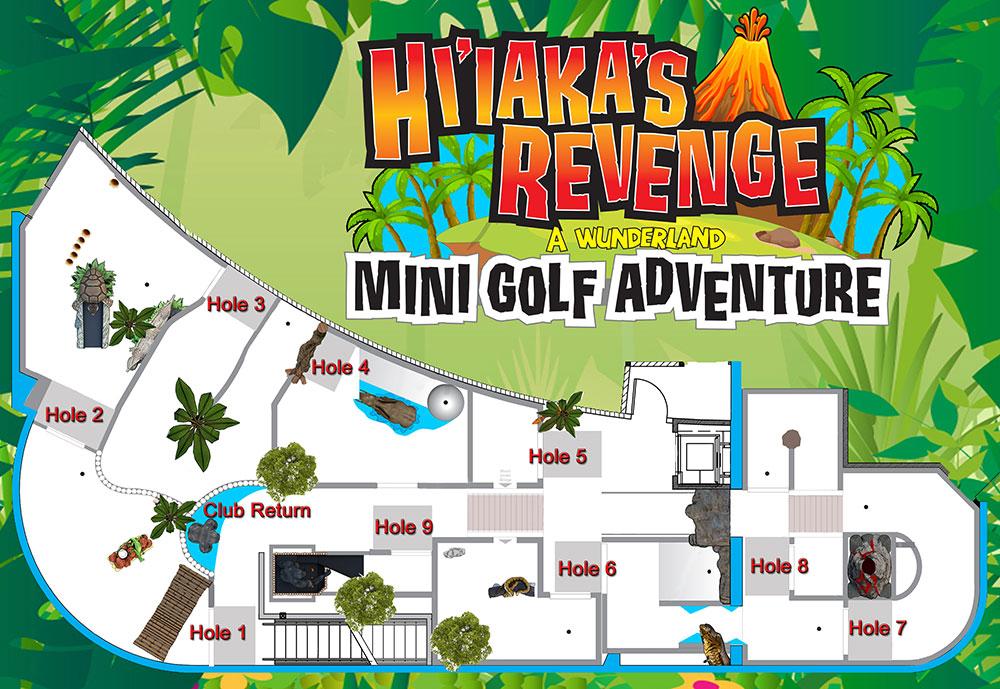 Hi'iaka's Revenge Mini Golf Map
