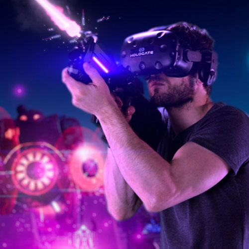 Man Playing Hologate VR