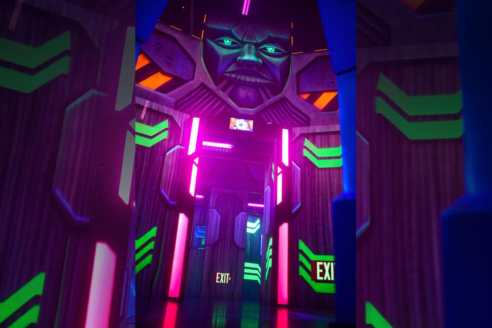 Laser Tag Interior Exit